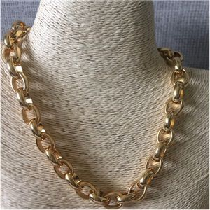 Lauren Ralph Lauren, Gold-Tone Oval-Link Necklace